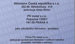 Osvědčení společnosti Hörmann